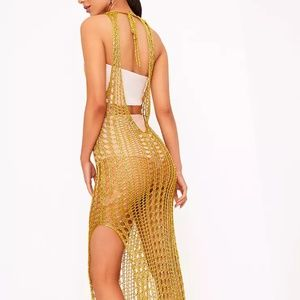 06cc413652 PrettyLittleThing Swim | Nwt Pretty Little Thing Gold Beach Coverup ...